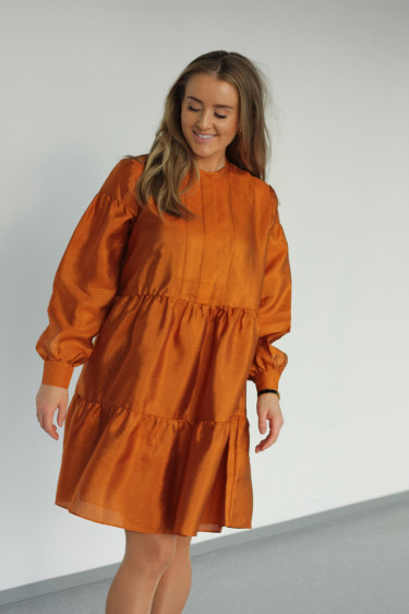 Margo Shirt Dress Honey Ginger