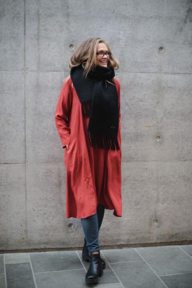 Nuala Dress Red OCHRE