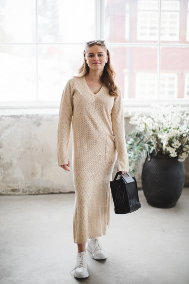 Nim dress beige