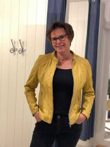 Viola leather Jacket, Yellow