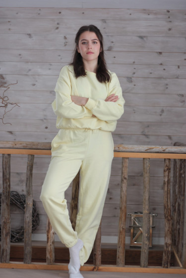 Wanted sweatpants Pastel Yellow