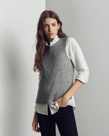 Zenie Vest Light Grey