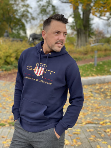 D2. Archive Shield Hoodie Evening Blue