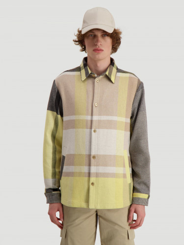 Elix Shirtjacket Yellow Check