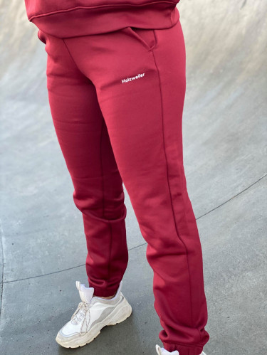 Gabby Sweat Trouser Burgundy