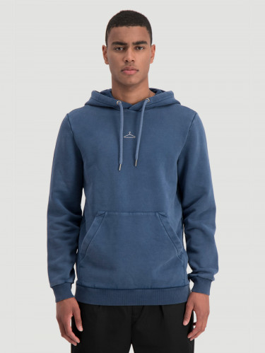 Hanger Hoodie Sweat Navy Washed