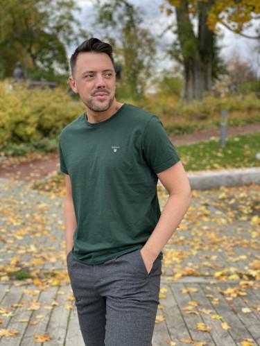 The Original ss T-Shirt Tartan Green