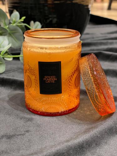 Mini Glass Jar w. lid Spiced Pumpkin Latte