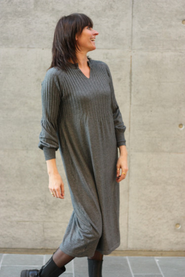 Una Knit Dress Grey