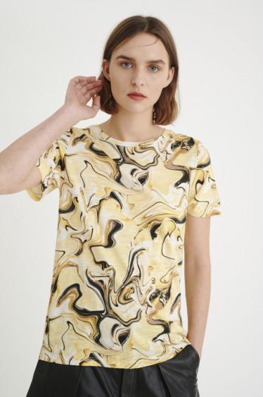 AlmaIW t-shirt/Yellow Marbling