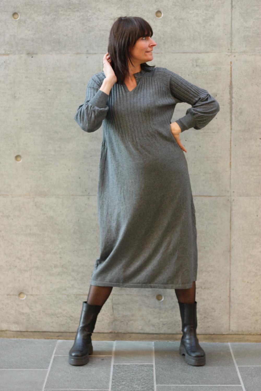 Una Knit Dress Grey